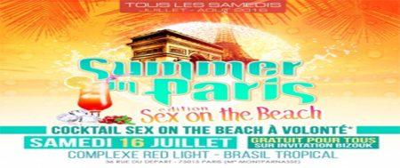 Red Light Paris: SEX ON THE BEACH- Tous les samedis Juillet & Aout