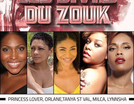 LES DIVAS DU ZOUK: Princess Lover, Orlane, Tanya St Val, Milca et Lynnsha – Agenda soirées Antillaises Paris 10 Décembre