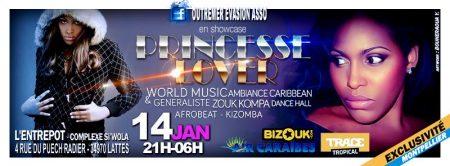 L'Entrepot: Princess Lover au Cristal Siwo – Agenda soirées antillaises Montpellier