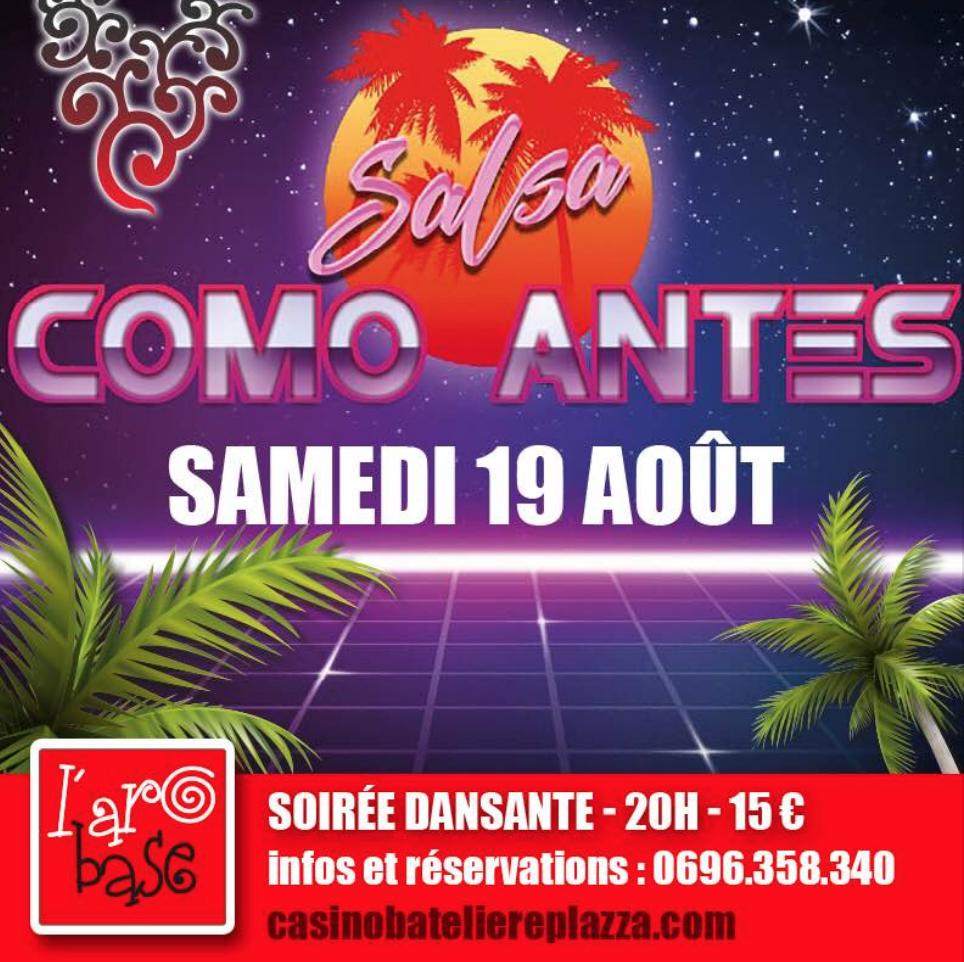 A l'Arobase : Soirée avec COMO ANTES – Martinique
