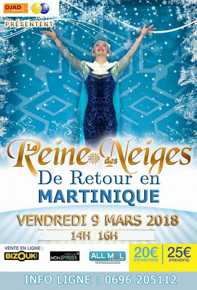 La reine des neiges revient en Martinique