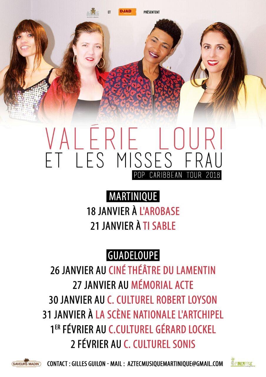 Valérie Louri en tournée avec les Misses Frau
