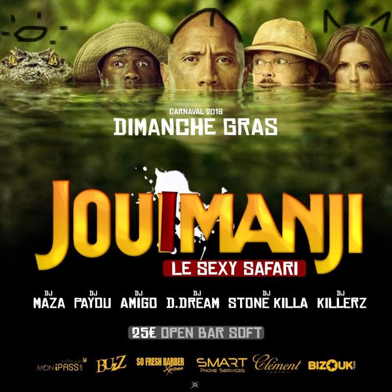La soirée jouimanji, un safari sexy, c'est carnaval
