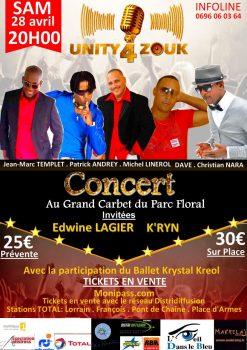 Unity for zouk, le concert de Martinique
