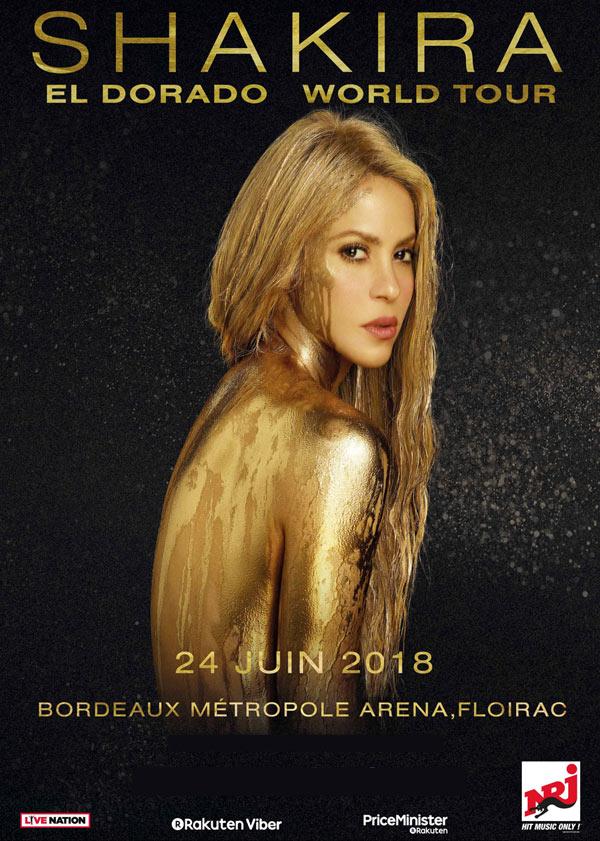 Shakira super star, Paris, Montpellier, Bordeaux