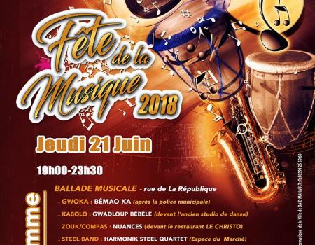Fête de la musique 2018 à Baie -Mahault