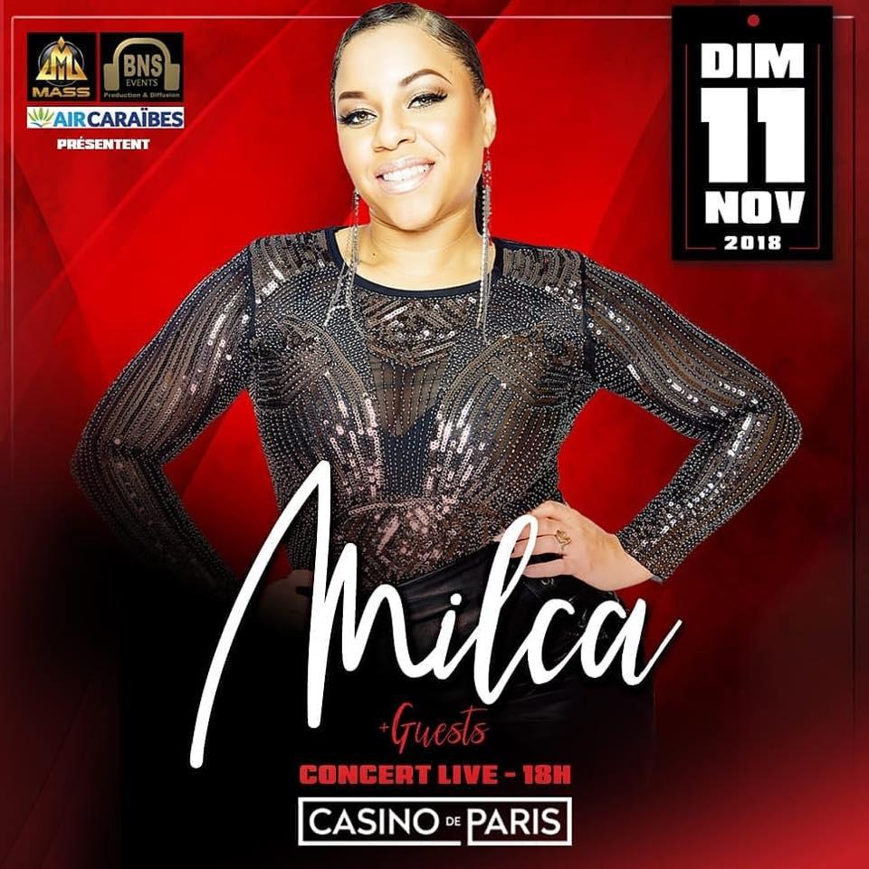 Milca en concert au casino de Paris – 11 novembre