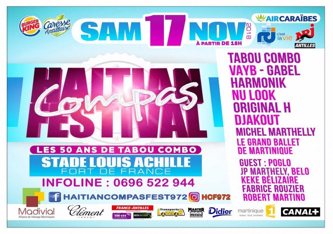 Un GRAND festival de Compas pour la Martinique !!