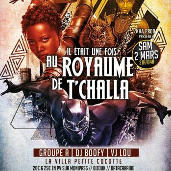 Il était une fois LE ROYAUME DE T'CHALLA – Carnaval Martinique 02 mars