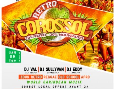 A L'APPART: LE CONCEPT ZOUK COROSSOL- Soirées Guadeloupe 9 fevrier