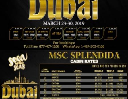 SOCA ON THE SEA – Dubai 23 mars