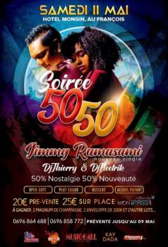 LA SOIREE 50/50 AVEC JIMMY RAMASAMI – 11 MAI