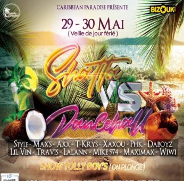 SHATTA VS DANCEHALL EDITION BEACH – TOULOUSE LE 29 MAI