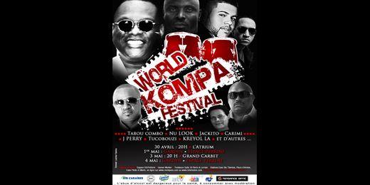 Makrelaj.fr est en mesure de vous annoncer la programmation du premier Festival Kompa jamais organisé en Martinique