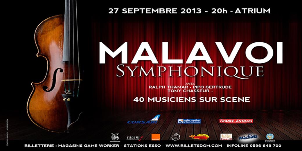 MALAVOI SYMPHONIQUE un concert exceptionnel le 27 septembre 2013  en Martinique