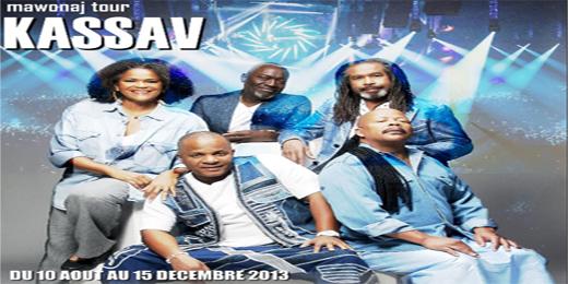Kassav les prochaines dates de la tournée 2013 :Martinique, Paris, Guadeloupe, Vanuatou, La Haye, Dominique….