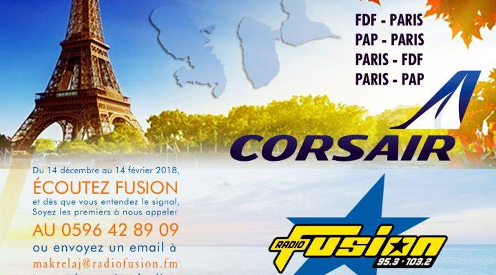 Gagnez votre voyage !!! Envolez-vous pour Paris ou les Antilles