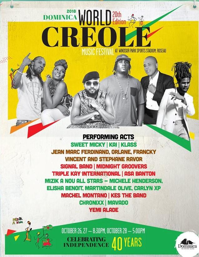 World creole music festival de Dominique