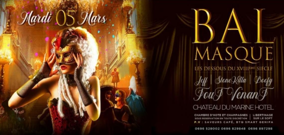 Bal Masqué Les DESSOUS du XVIIIe SIECLE – Carnaval Martinique Mardi Gras