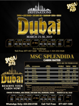 SOCA ON THE SEA – Dubai 23 mars