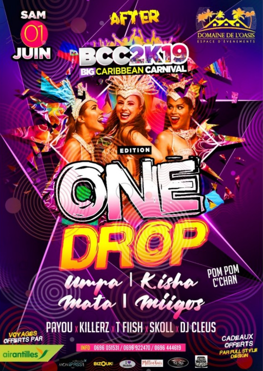 AFTER BCC ÉDITION ONE DROP – SOIREE MARTINIQUE 1ER JUIN
