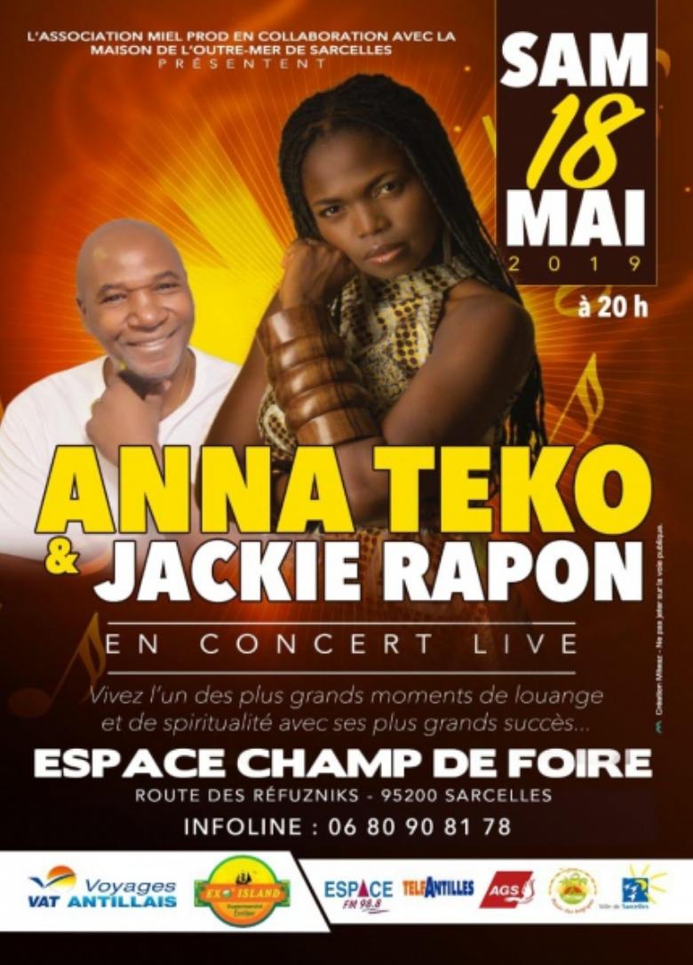 Anna TEKO et Jacky RAPON pour une rencontre au sommet – Soirée Paris