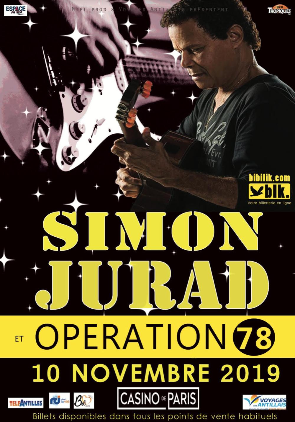 Opération 78, Simon Jurad – Concert exceptionnel – Paris le 10 novembre