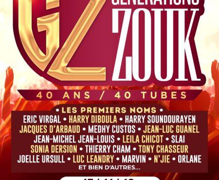 La ferme Perrine: Generations Zouk – Martinique le 17 novembre