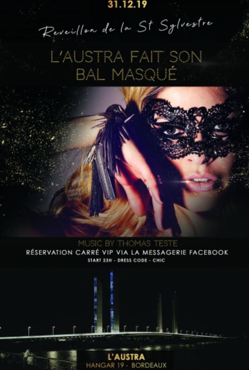 BalMasque- Bordeaux réveillon Saint-sylvestre