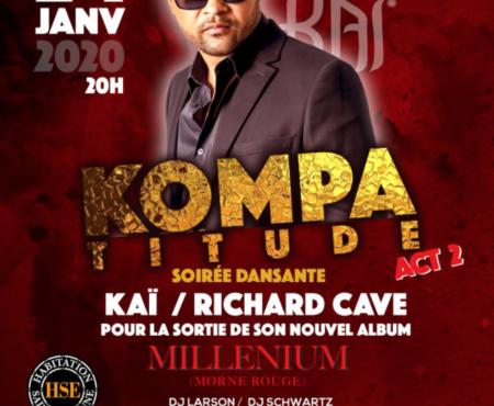 Kai et Richard CAVE au Millenium – Martinique le 24 janvier