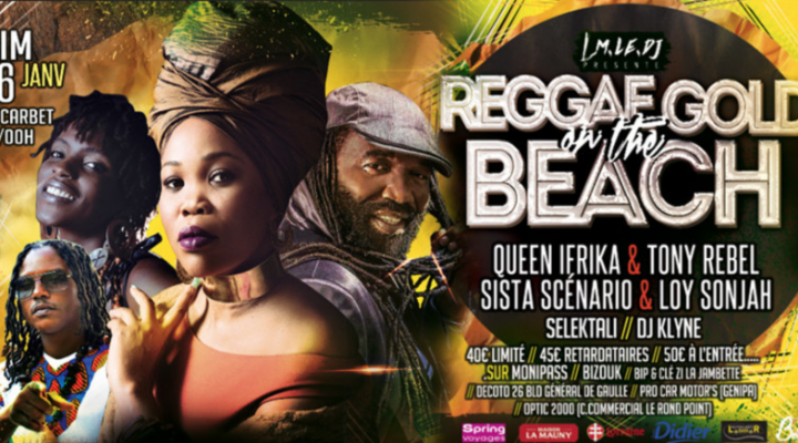 REGGAE GOLD ON THE BEACH – Martinique le 26 janvier