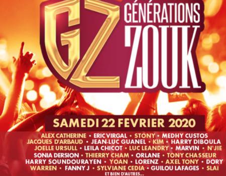 Générations Zouk – Paris le 22 février