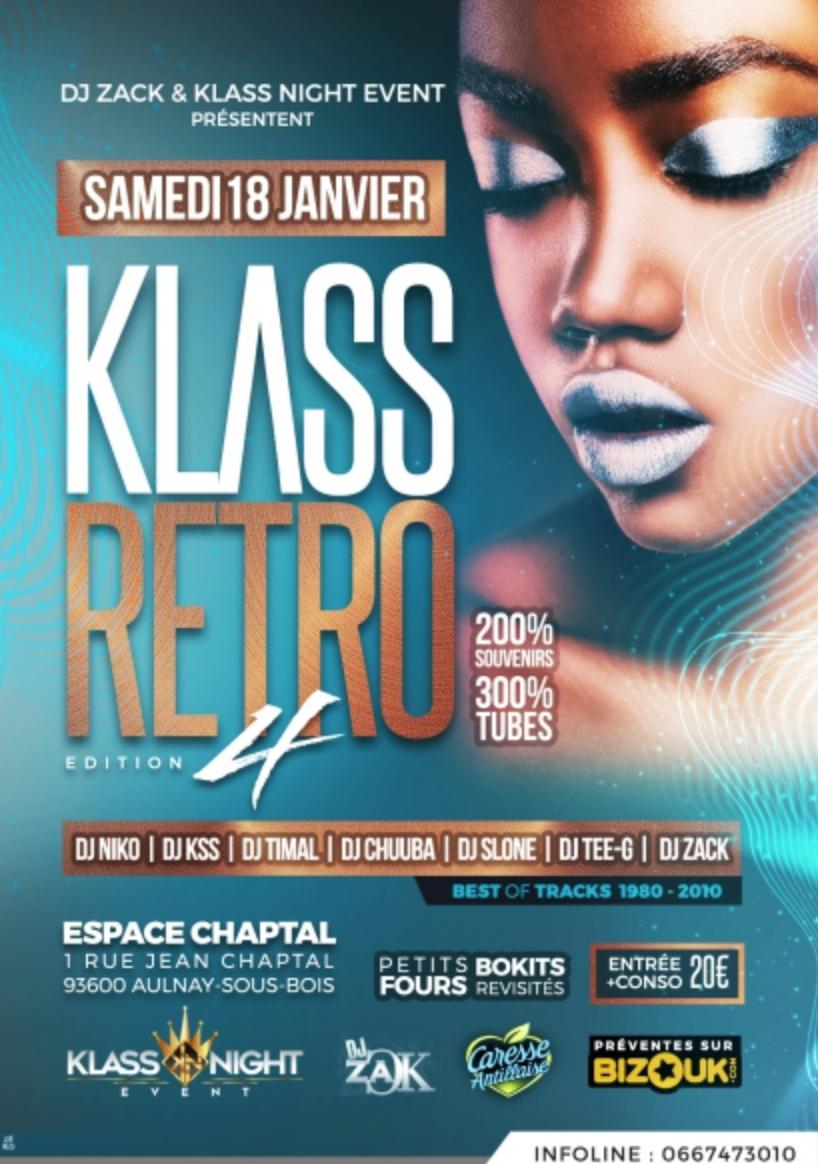 Espace captal: «La Soirée KLASS RÉTRO» – Paris le 18 janvier