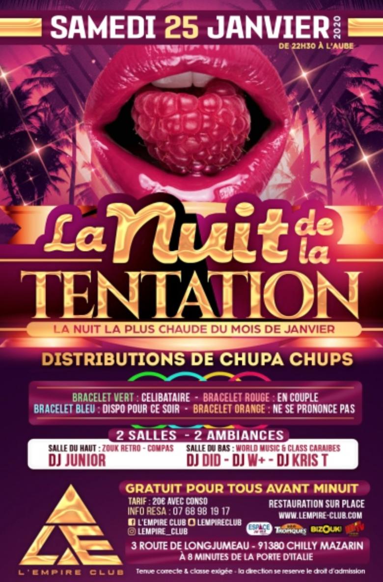 LA NUIT DE LA TENTATION – Paris le 25 janvier