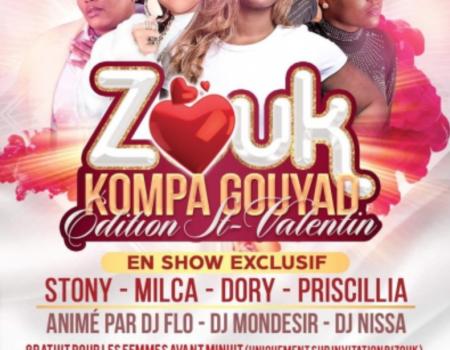 Soiree Kompa Gouyad Édition ST-VALENTIN – Paris le 15 février