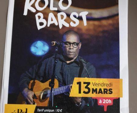 Kolo Barst en concert le vendredi 13 mars à Paris